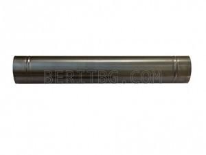 Прав кюнец 1м/ ф160, Черна ламарина