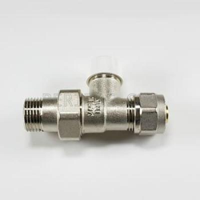 Вентил радиаторен секретен прав с адаптор Ø16-FORNARA