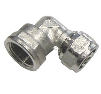 """Коляно Ф18х3/4"""" ЖЕНСКО за тръба с алуминиева вложка"""