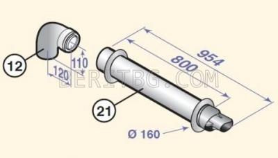 Комин ф60/100 за котел Naneo/Vivadens/PMC DY871